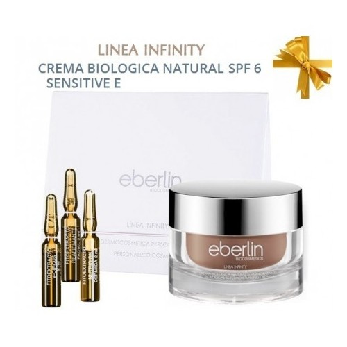 KIT INFINITY. Crema Biologica SENSITIVE SPF6 + 3 Ampollas/rinkinys