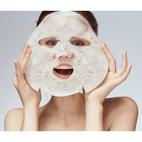 Veido kaukė, odos prisotinimą deguonimi skatinanti ir gaivinamoji jūros dumblių kaukė su burbuliukais